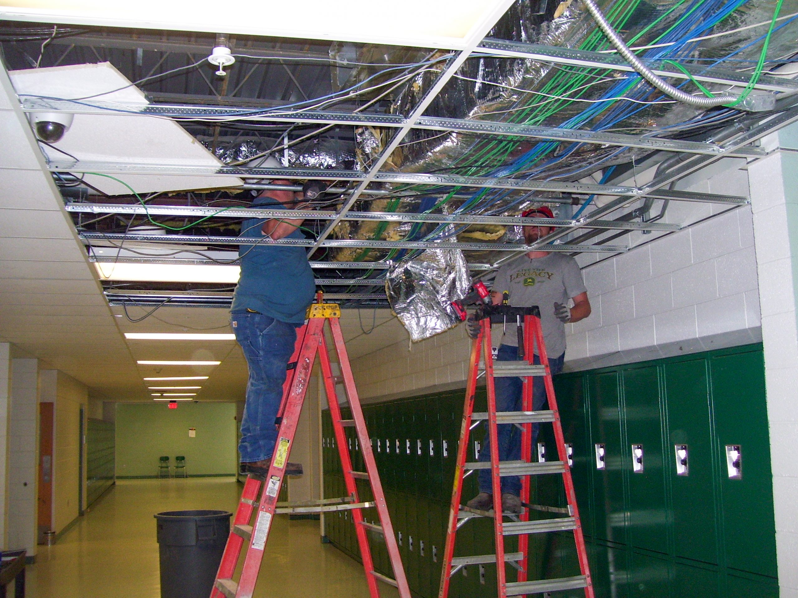Ductwork Install in school