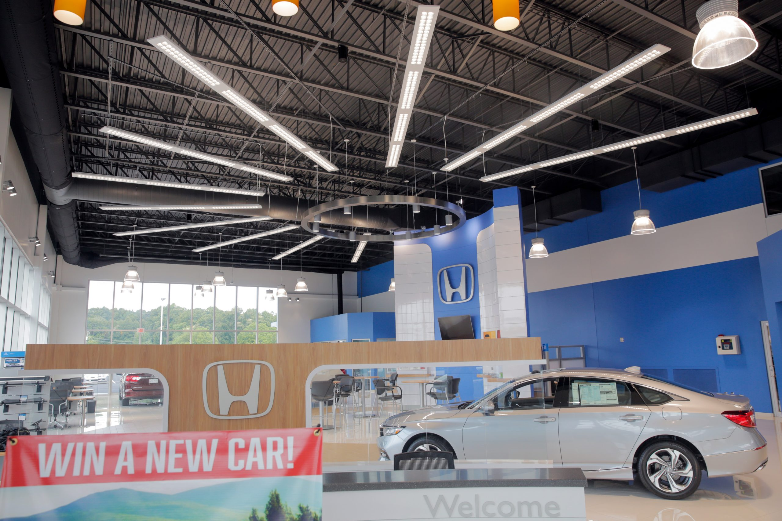 Plumbing, Electrical, Mechanical install at auto dealership